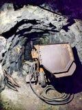 Carro en la mina de Calamita, en Capoliveri, Elba Island Fotografía de archivo