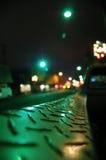 Carro en la noche foto de archivo libre de regalías