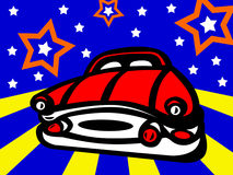 Carro engraçado ilustração do vetor