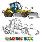 Carro engraçado do graduador com olhos Livro de coloração ilustração royalty free