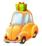 Carro engraçado dos desenhos animados Fotografia de Stock Royalty Free
