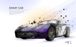 Carro esperto ou inteligente ilustração royalty free