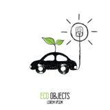 Carro Etiqueta de Eco Imagens de Stock Royalty Free
