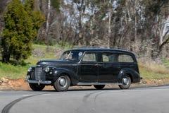 Carro fúnebre 1940 de luxe de Chevrolet Ridemaster fotografia de stock