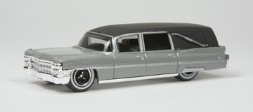 Carro fúnebre modelo diminuto Fotos de Stock
