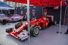 Carro F1 do evento de F1 Live London fotografia de stock royalty free