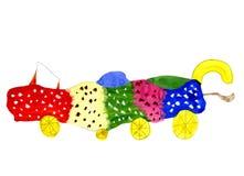 Carro fantástico - ilustração do miúdo desenhado mão Imagens de Stock Royalty Free