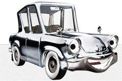 Carro feliz de Toon Fotografia de Stock