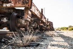 Carro ferroviario de la mirada rústica con la pista Foto de archivo libre de regalías