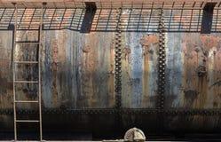 Carro ferroviario viejo oxidado del combustible Fotografía de archivo