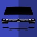 Carro fora de estrada azul violeta da opinião dianteira do vetor Fotos de Stock