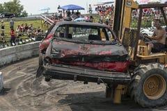 Carro fora do derby da demolição Imagem de Stock