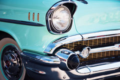 Carro Front Detail do vintage foto de stock royalty free