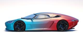 Carro futurista do conceito 3d ilustração do vetor