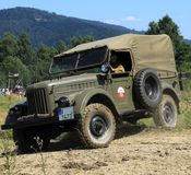 Carro Gaz 69 do exército Fotografia de Stock Royalty Free