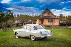 Carro GAZ M21 Volga do vintage Fotografia de Stock