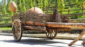 Carro georgiano viejo Imágenes de archivo libres de regalías