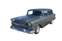 Carro gris retro Imagen de archivo libre de regalías