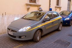 Carro Guarda di Finanza Foto de Stock