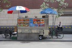 Carro Halal de la comida Foto de archivo libre de regalías