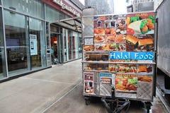 Carro Halal de la comida Fotografía de archivo libre de regalías