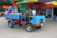 Carro Handmade em Cambodia Fotos de Stock