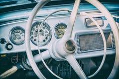 Carro histórico do vintage, filtro análogo fotografia de stock