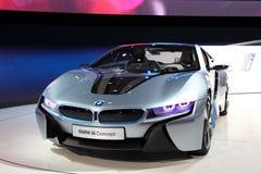 Carro i8 do conceito de BMW em IAA Fotos de Stock