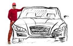 Carro ideal do homem Imagens de Stock Royalty Free