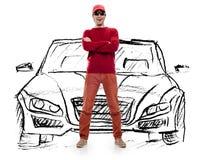 Carro ideal do homem Imagem de Stock