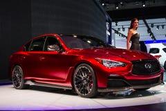 Carro infinito do conceito do vermelho de Q50 Eau Imagens de Stock