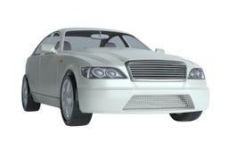 Carro isolado no branco ilustração stock
