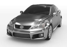 Carro isolado no branco - metal, vidro matizado - lado dianteiro-esquerdo vi ilustração stock