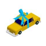Carro isométrico do táxi Foto de Stock Royalty Free