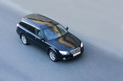 Carro japonês luxuoso preto imagens de stock