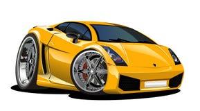 Carro Lamborgini dos desenhos animados do vetor Foto de Stock Royalty Free
