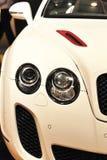 Carro luxuoso branco imagens de stock royalty free