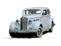 Carro luxuoso do casamento ideal branco retro do vintage isolado Foto de Stock