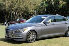 Carro luxuoso moderno na exposição no evento imagem de stock royalty free