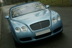 Carro luxuoso na estrada Imagens de Stock Royalty Free