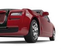 - Carro luxuoso vermelho do negócio com detalhes pretos - tiro escuro do close up do baixo ângulo ilustração royalty free