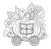 Carro mágico de la calabaza Foto de archivo libre de regalías