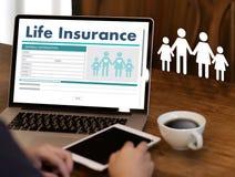 Carro médico da casa da casa da proteção sanitária do conceito do seguro de vida Imagem de Stock