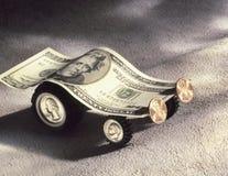Carro modelo feito da moeda dos E.U. Fotos de Stock Royalty Free