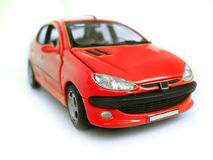 Carro modelo vermelho - Hatchback. Passatempo, coleção Imagem de Stock