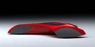 Carro moderno vermelho do conceito ilustração stock