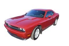 Carro moderno vermelho do músculo do dia Fotografia de Stock Royalty Free