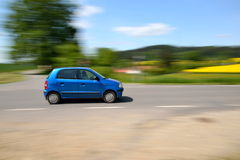Carro movente rápido Fotografia de Stock
