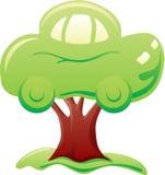 Carro na árvore Imagem de Stock Royalty Free