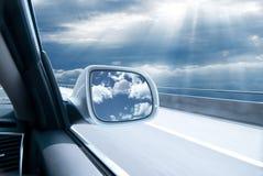 Carro na alta velocidade Fotos de Stock Royalty Free